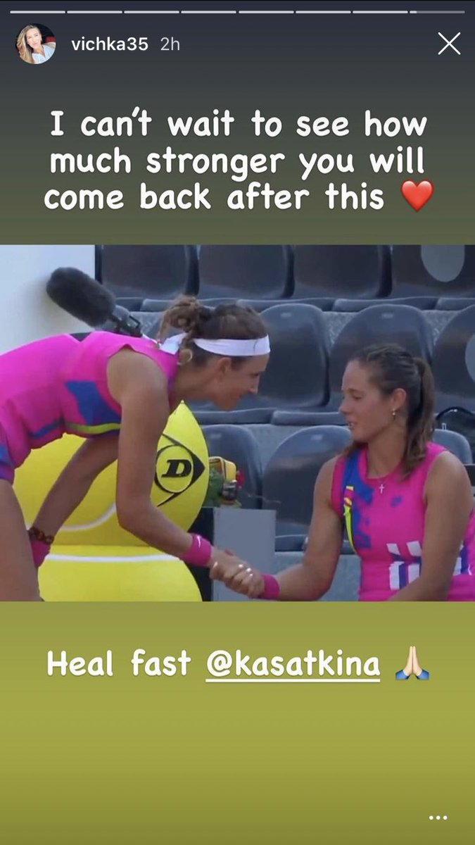 Vika posted a story on her IG with some good words to Dasha 🥰 https://t.co/xMAItZfkeO