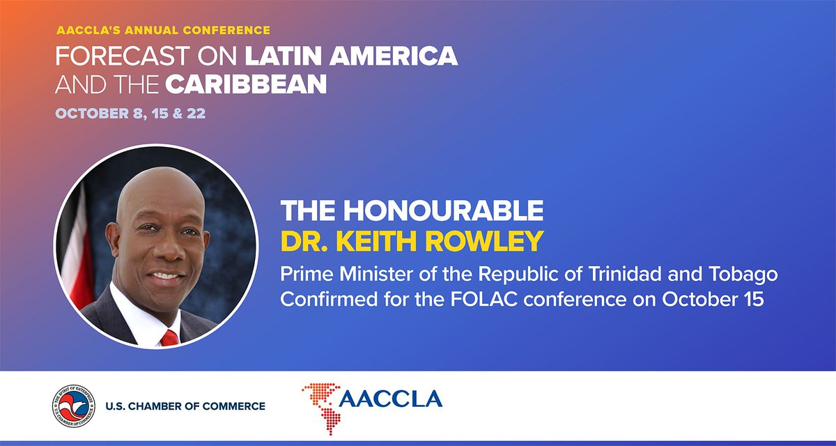 test Twitter Media - New speaker confirmed! The Hon. Dr. @DrKeithRowley   of Trinidad and Tobago confirmed for the #FOLAC2020 conference on October 15. To register for the conference, please follow the link: https://t.co/65iGQf8Jho https://t.co/bSTYDJdoAx