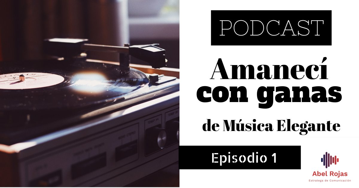 ¡Excelente noticia! #AmanecíConGanas ahora está disponible en #PocketCasts: https://t.co/kkG4jGh354 ¡Pásenle, no cuesta nada! #podcast #podcaster #vinylrecords #vinyl #recordcollecting #musichistory #PodcastEnEspanol #podcasting #PodcastHQ #storytelling #PolíticamenteIncorrecto https://t.co/9xxXBXdIB9