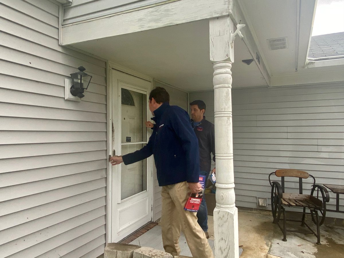 Great to be with @Scotttaylorva knocking on doors today in Virginia Beach with the help of @VA_GOP to make sure @realDonaldTrump is re-elected this November! #MAGA
