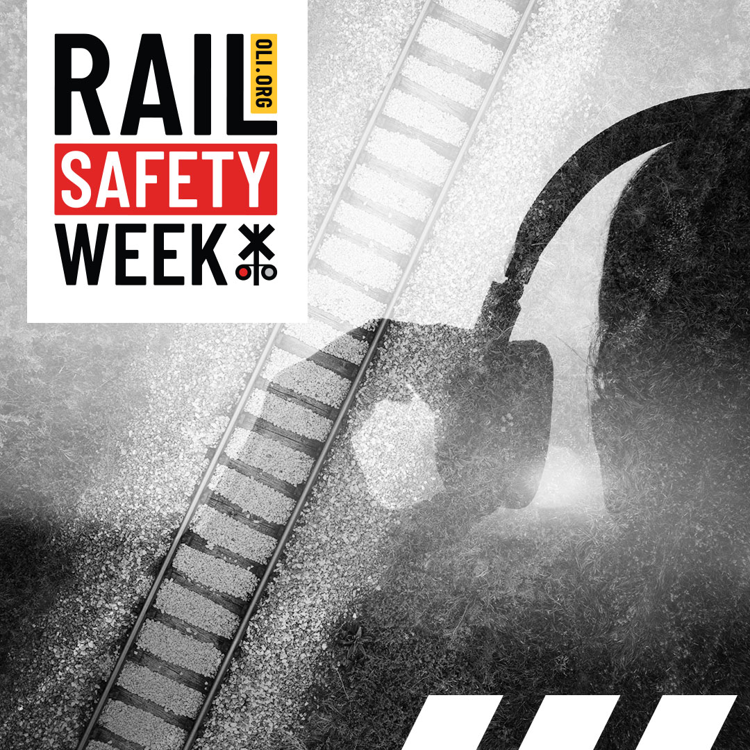 #RailSafetyWeek Day 4: Think you can hear an oncoming train while wearing headphones? Think again. Trains are quieter & move faster than they seem. #ThursdayThoughts https://t.co/R0LlsBkJSP