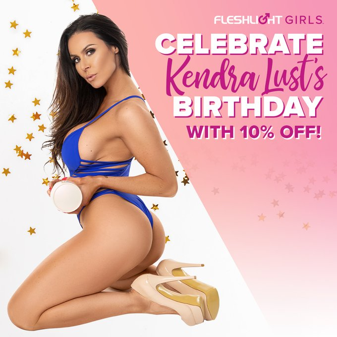 Happy birthday to Fleshlight Girl @KendraLust!🎉 Celebrate this beauty ALL MONTH with 10% off her Fleshlight