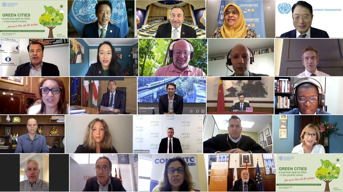 Proud to launch @FAO #GreenCities initiative & count on the support of @ASteiner, @MaimunahSharif, @UNIDO's LI Yong, @JRigterink, @cmrodrigueze, @MelonioThomas, @theGCF's J. Manzanares & so many others. We need greener, resilient & regenerative cities to achieve #Agenda2030. 1/2 https://t.co/b0rsVL9zI4