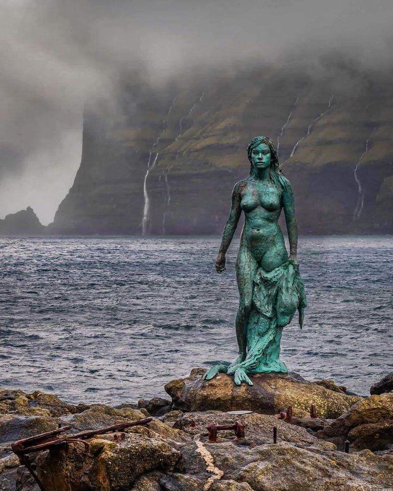 #legends #fables #stories Sealwoman selkie Mikladalur - Faroe Islands https://t.co/goTOpXmCUW