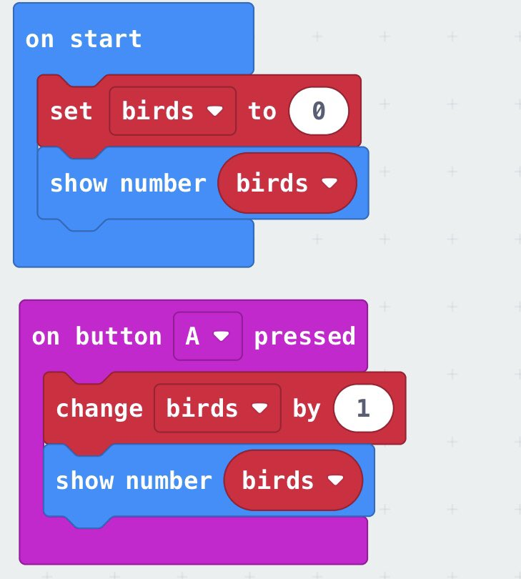 Add additional #variables and inputs to count multiple species or varieties - insects, plants 🐝 🍄 🐜 🍃 🌱 🌹 #STEMnNature #STEMinTheWorld #PrimarySTEMchat #aussieED #Microbit https://t.co/RDCVOBAfiI