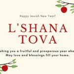 Image for the Tweet beginning: Shana Tova to our friends