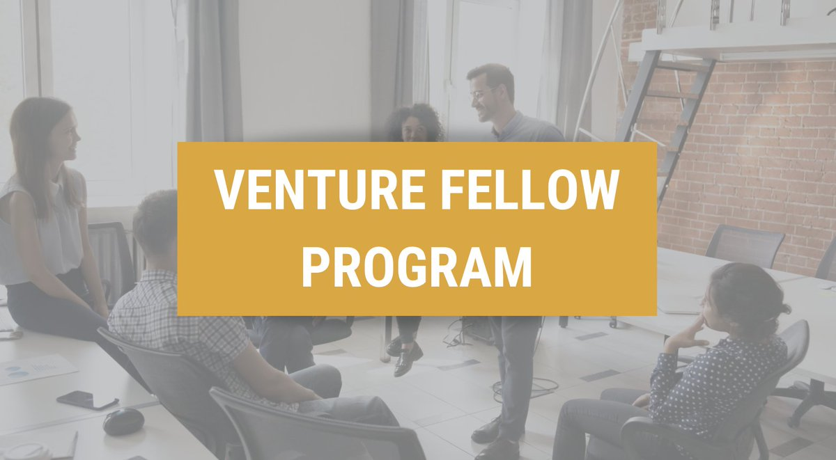 VENTURE FELLOW PROGRAM. Interesting in a career in VC? Apply for our Venture Fellow Program: a unique learning experience & the jumpstart you need. Priority Applications accepted through 9/20 so don't wait! Learn more and apply here: https://t.co/3Y58XzMOhq #DiversityInVenture https://t.co/9OzO7mC7Xq