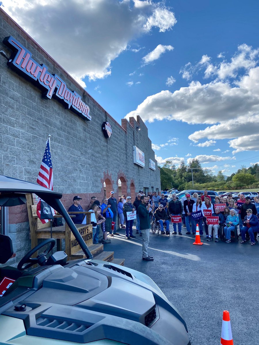#BikersForTrump ain't riding with Biden in Galeton, PA. They know Biden is weak for America. And that only President Trump will put America First for every American. #MAGA 🇺🇸
