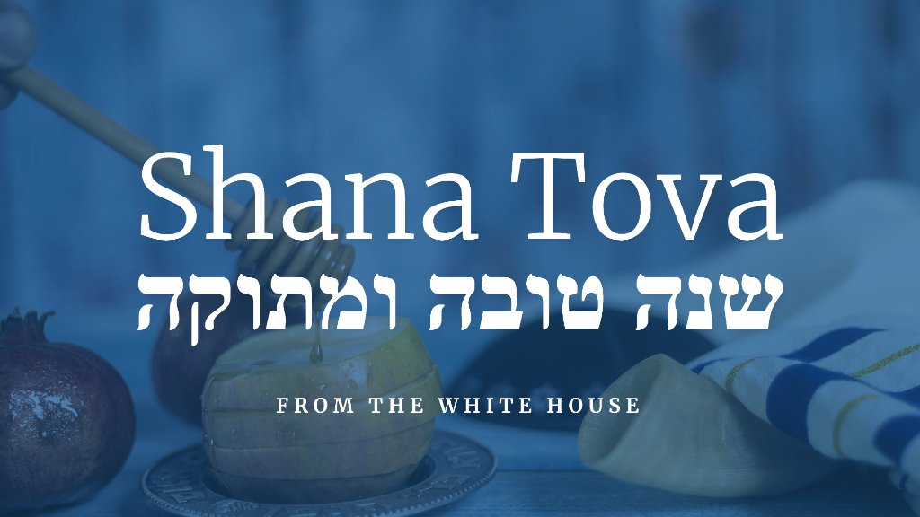 Shana Tova to those observing Rosh Hashanah in America and around the world! https://t.co/EbA9FMLcAq