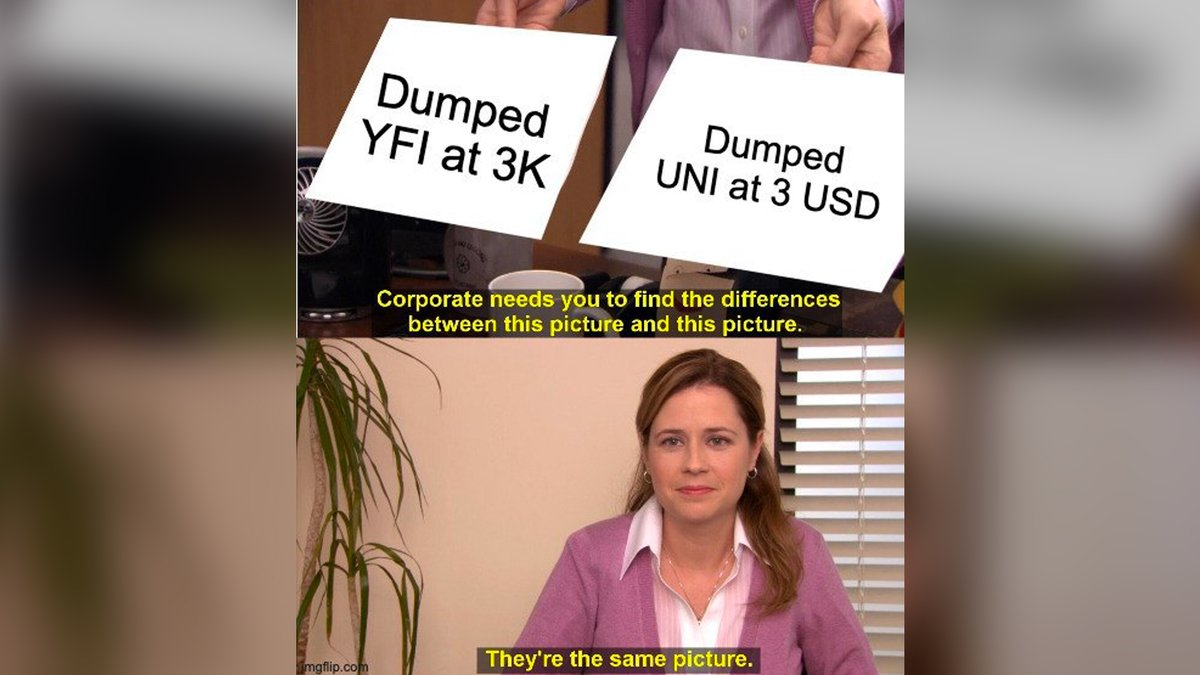 How crazy is #crypto sers? $YFI $UNI