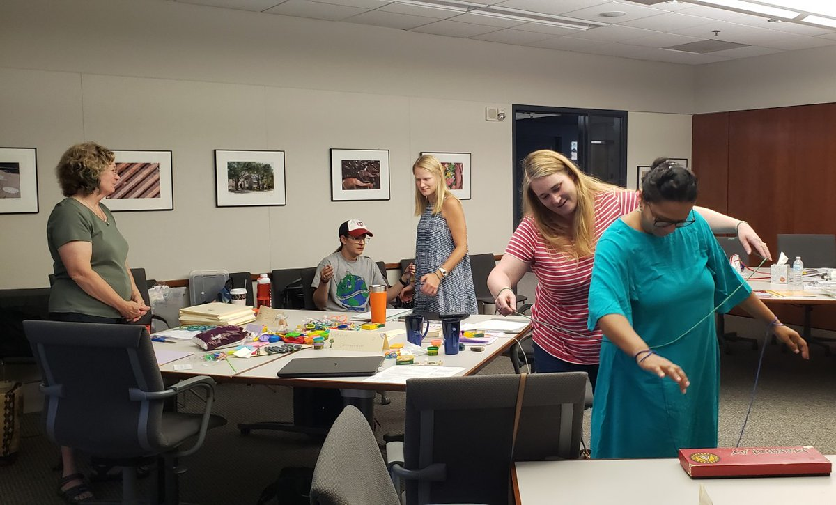 DYK you can earn 1/2 your #gifted endorsement credits through our Chautauqua program? Here, participants in Dr. Clar Baldus' class (RCE:4129 Creativity) are trying to untangle #creativity in this unique #professionallearning opportunity! More info here 👉 https://t.co/GxR9ztZd4t https://t.co/MbTgLqnGv4