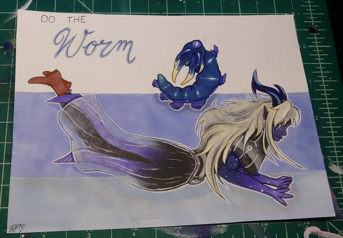 """Based off of a request given by my aunt, here is my interpretation of Aaravos doing """"The Worm"""". 😁 https://t.co/zZ4yHl1AT0"""