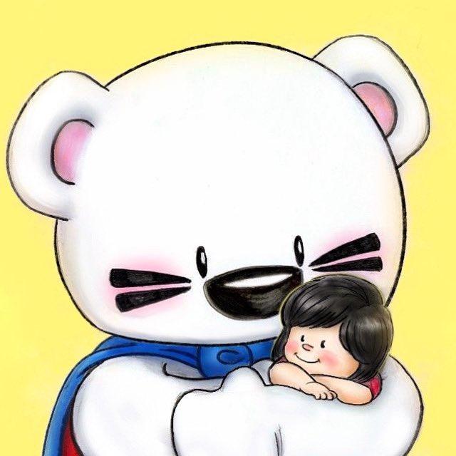 Sending you a BIG BEAR HUG 🤗💛 Tag someone you'd love to give a BIG BEAR HUG to right now 💛💛💛💛💛#SuperBOOMi #art by #TrevorLai ❤️ #bear #hug #love #BOOMi #UpStudios https://t.co/zPOhKyy018
