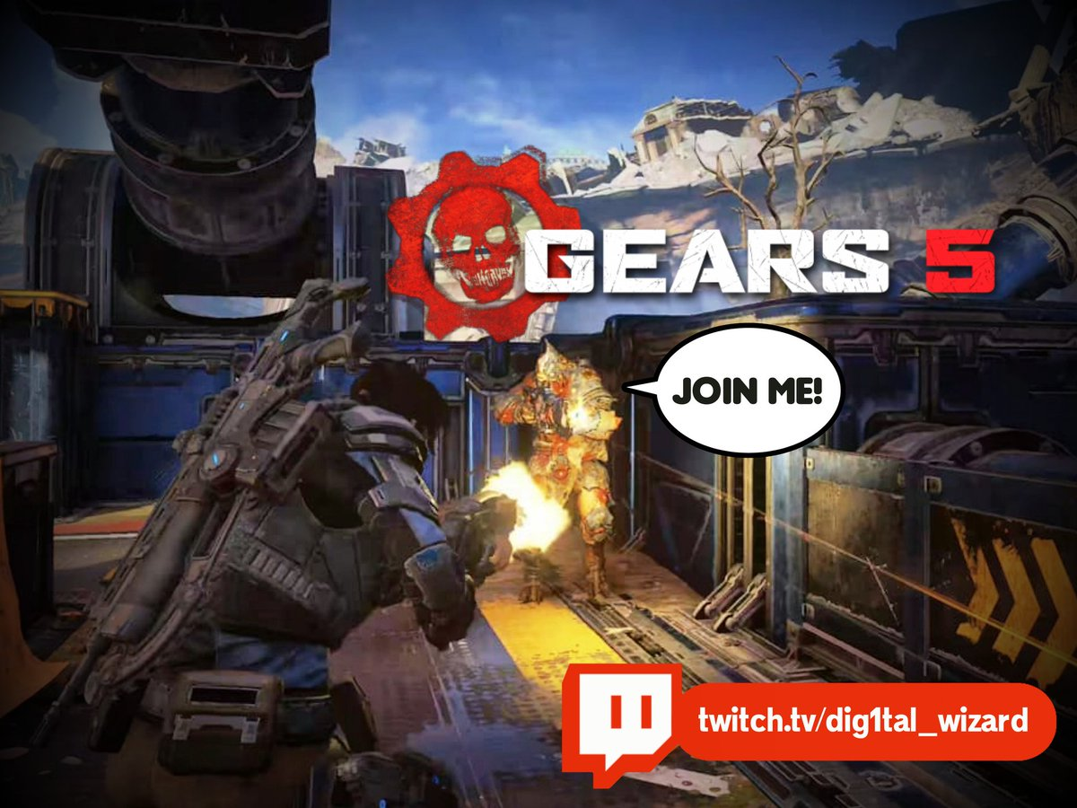 Late night gaming session. 🔴 Live NOW! Follower Goal: 273/300 Playing: #Gears5 https://t.co/cKCuW2yhmJ  #Twitch #Streamer #Streaming #GearsofWar #VideoGames #Xbox #PC https://t.co/2yOsaqPHJ9