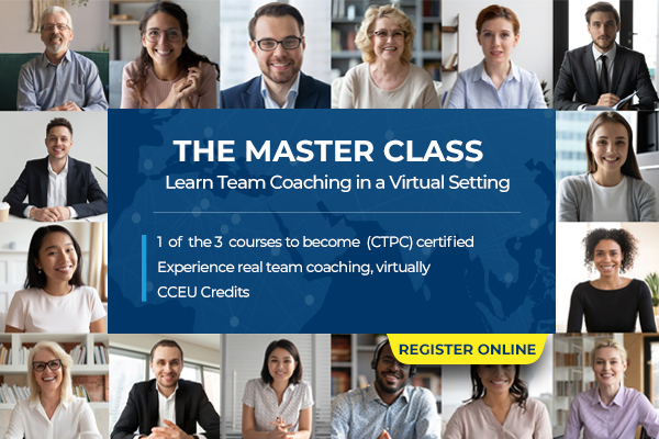 Good news for those unable to take the on-site version of The Master Class due to #COVID19: The Master Class is now available as a remote course and the next cohort starts Sept 24! Take your next step in your #TeamCoaching journey, enroll today: https://t.co/Pu6aVGqyEF https://t.co/HJvUJhgCp0
