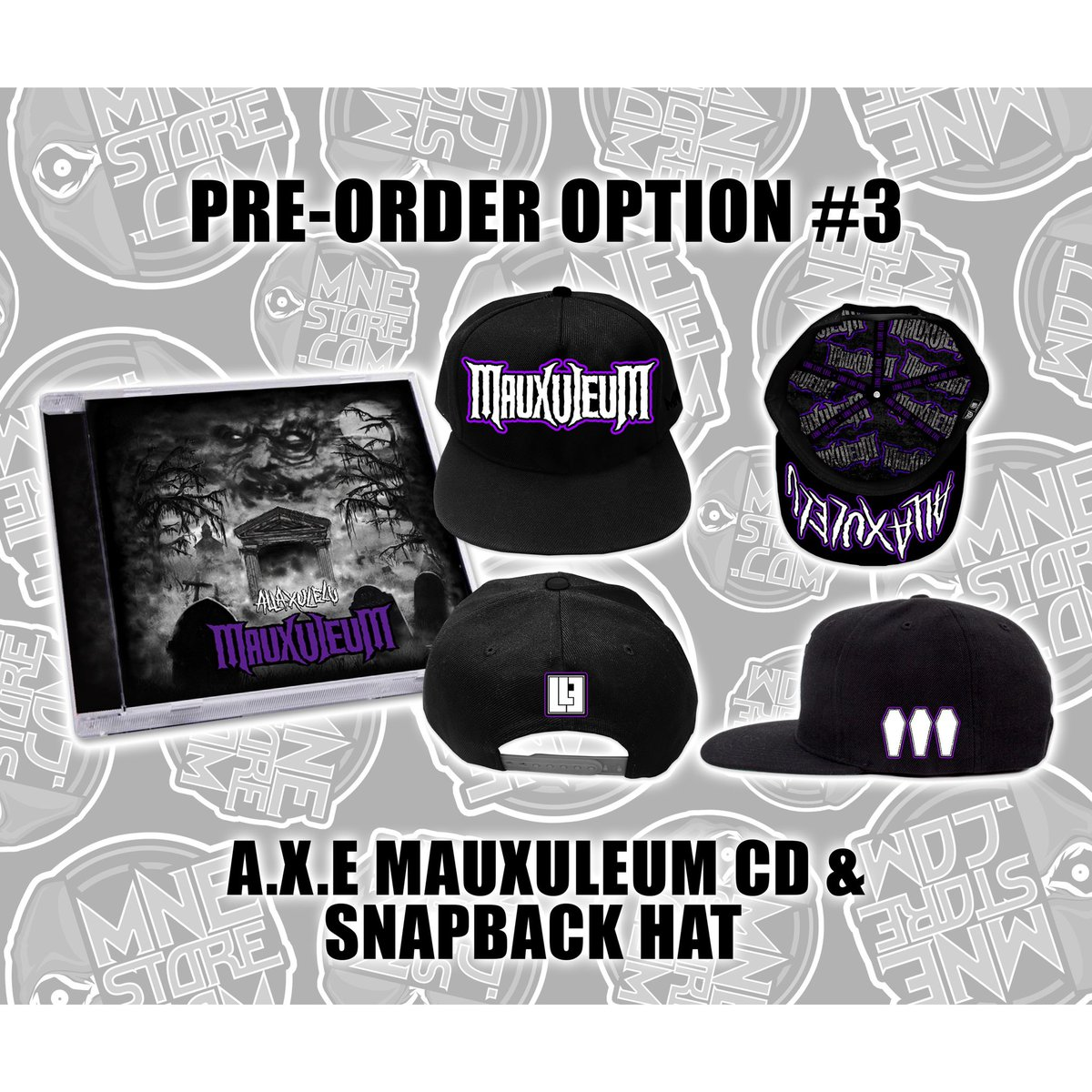 Pre orders for @allaxulelu 's #mauxuleum are live now🎃 Hit up the link in bio 👆 to check all of your options out!!!  New #evil is coming 💀 #allaxulelu #majikninjaentertainment #axe #xuligans #newmusic #rap #underground #mne2020 https://t.co/o4DrEHsZOG