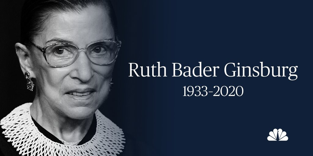 BREAKING: U.S. Supreme Court Justice Ruth Bader Ginsburg has died. nbcnews.to/3628pgf