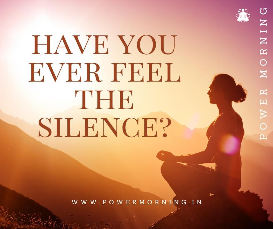 Have you ever feel the silence? Own your morning, Transform your life.  Let's start our day with power.  #PowerMorning #PowerMorningHQ #morning #achieve #believe #belief #recieve #ownyourmorning https://t.co/psDgXpbFgZ