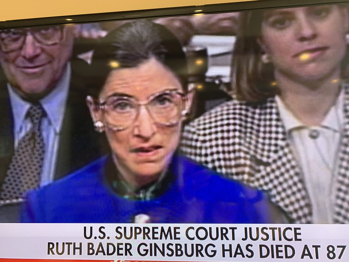 Sad to hear the passing of Ruth Bader Ginsburg. #supremecourt #pioneer #RIP