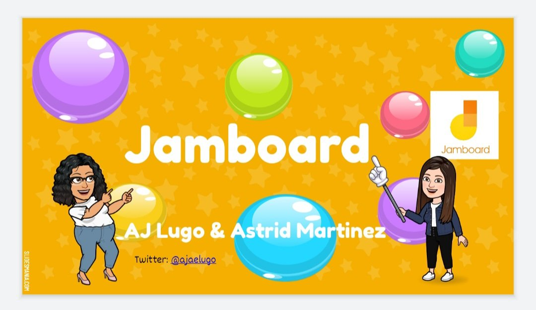 My first opportunity for sharing my knowledge with the staff.  #astrid and I had the honor of showing how Jamboard can be use to engage students virtually. It was so awesome #jamboard #teachersteachingteachers https://t.co/Aarn8HHWSA
