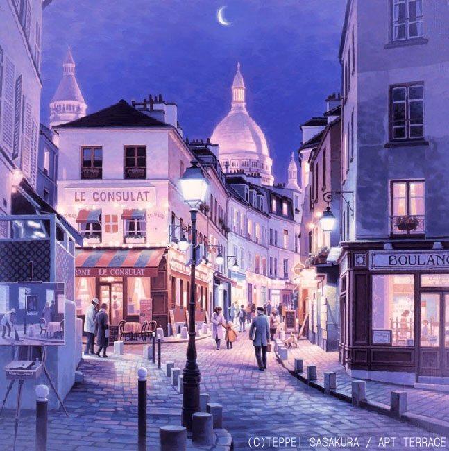 笹倉鉄平 Teppei Sasakura  『モンマルトル〜Montmartre〜』 2017年  新作 DVD「笹倉鉄平 やすらぎの絵画世界」にのみ収録されています  画家のコメント ↓ https://t.co/xk0cVIuXMz  笹倉鉄平ちいさな絵画館  #笹倉鉄平 #アート #art #絵 #油彩 #油絵 #おうち時間 #StayHome #EnjoyHome #パリ好き #光 https://t.co/1oTHoAfxr1