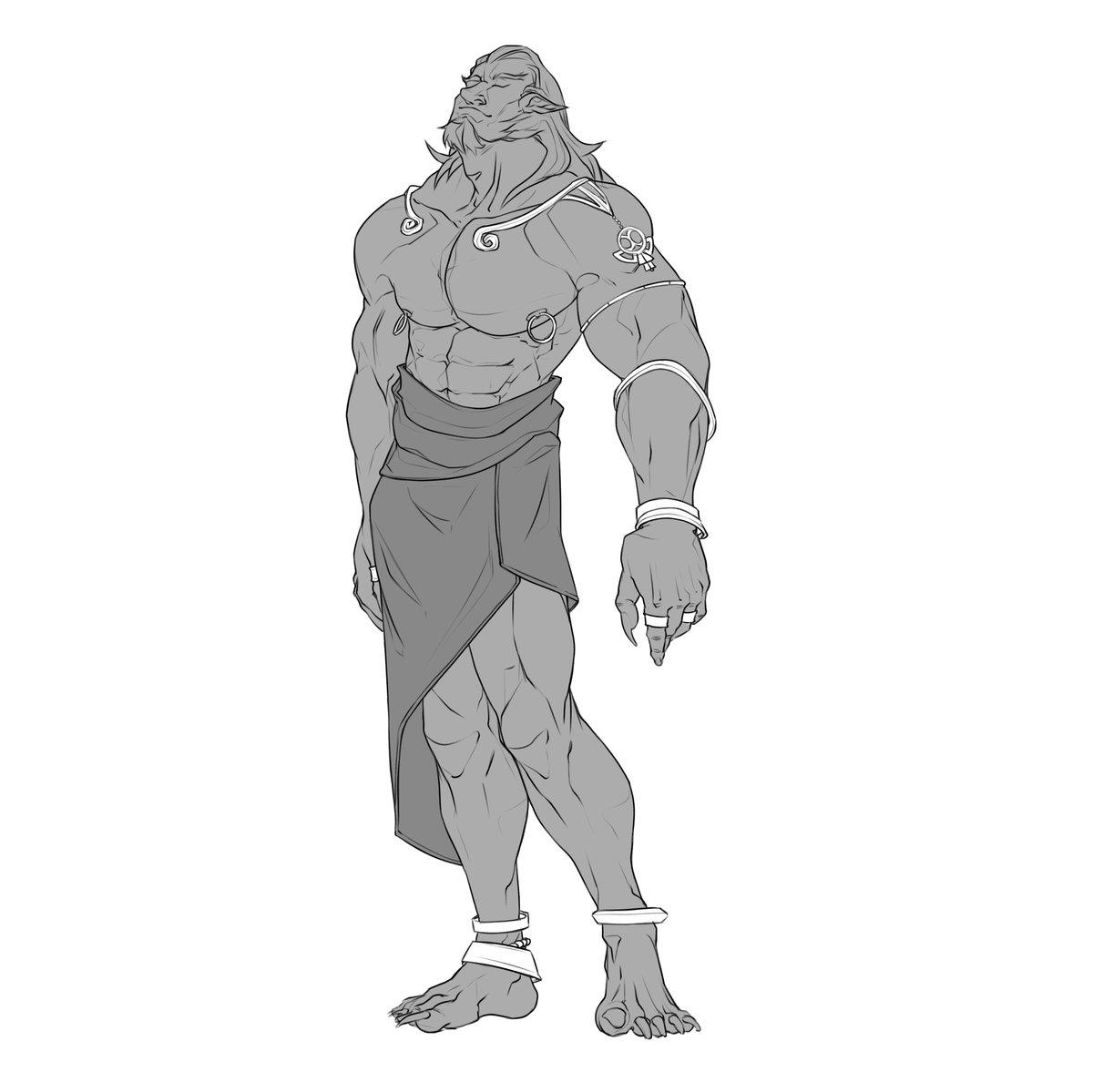 Got this #sexy #ganondorf #requested on Instagram a few weeks back!  I kinda fucked up some #proportions but I still think its looks really #cool!  #beefcake #bara #muscle #BOTW https://t.co/hrZtW1KY9r