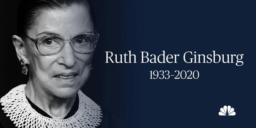 Ruth Bader Ginsburg 1933 - 2020 https://t.co/4n5TTchLwT https://t.co/KmVqxnDviz