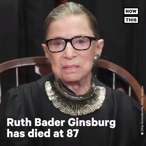 BREAKING: Supreme Court Justice Ruth Bader Ginsburg has died at age 87. Here's a look at the legacy she leaves behind. https://t.co/WLxc3zVUrj