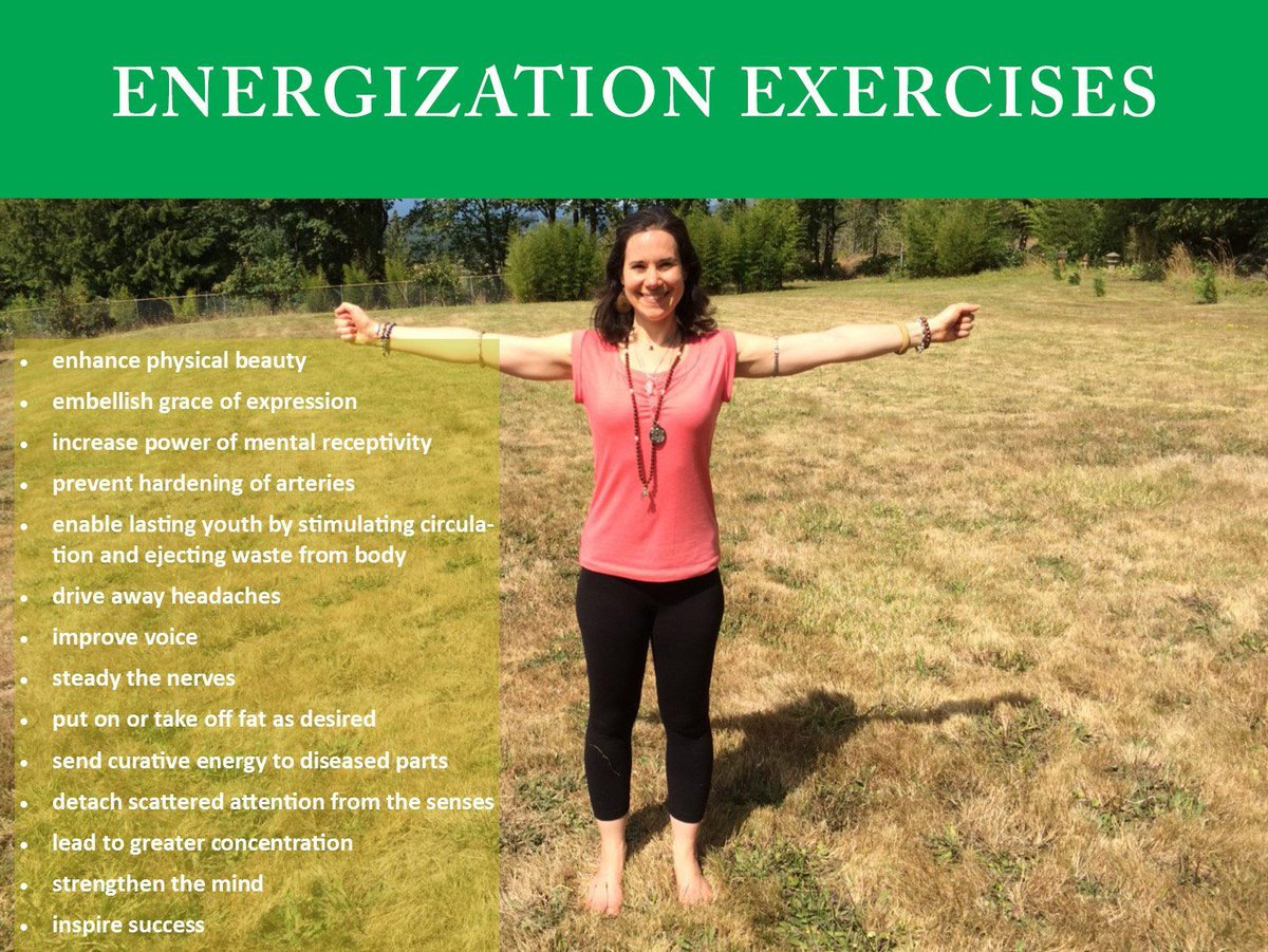Want an energy pick me up? It's like coffee that can be sustained without the highs and lows and doesn't cost you any money: My Favorite #Energization Exercises from #ParamhansaYogananda. https://t.co/rUNN2pMnVs #healinghappens #energy #mindfullness #motivation #health #wellness https://t.co/WPuwYdUMQ9