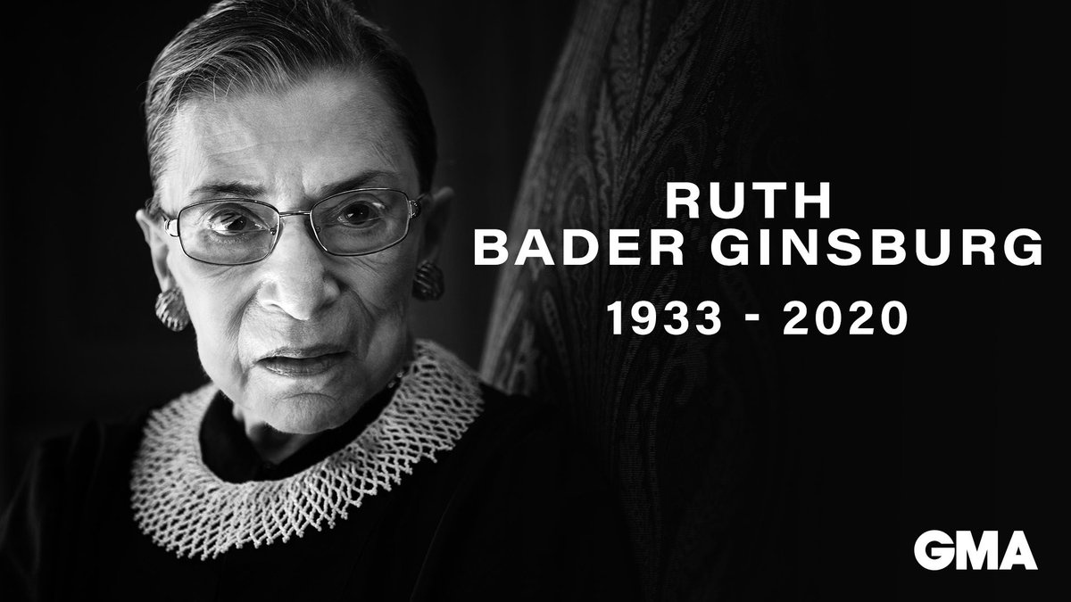 Rest in peace, Justice Ruth Bader Ginsburg 💔