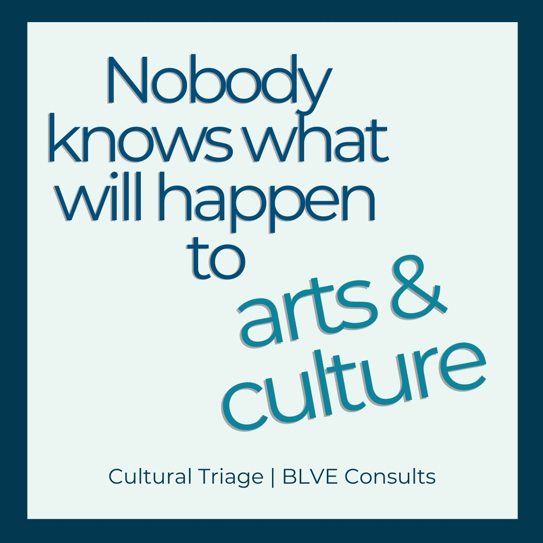 BLVE has been working on some real actions that our industry could begin to take to lead our own change. We are talking about what foundations, service organizations, municipalities, advocates and donors can do to help.  #culturaltriage #future #timeforchange #artsandculture https://t.co/QXq70YZq3V