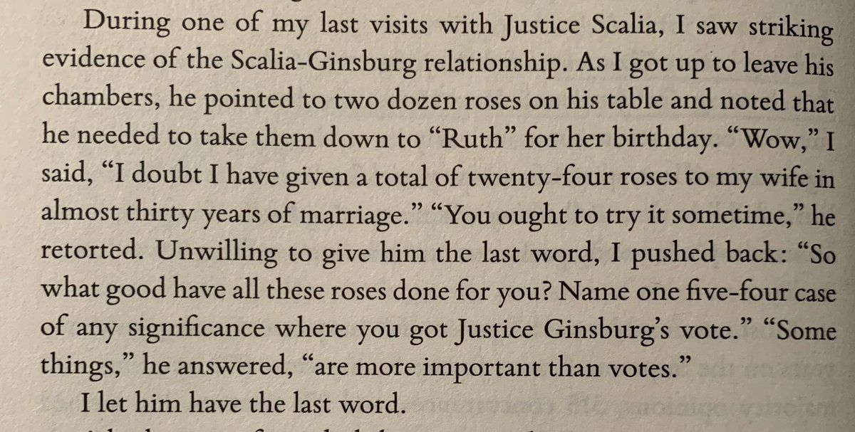 This is a story that Judge Jeffrey Sutton shares about an encounter late in my dads life, when he bought his friend Ruth two dozen roses for her birthday. Some things in life are more important than votes.