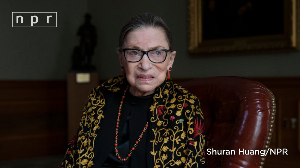 What a woman ❤️. Her story is such an inspiration to all women that aspire to reach their full potential in spite of gender barriers. She led through example, hard work, and tenacity. She made a difference.  RIP RBG