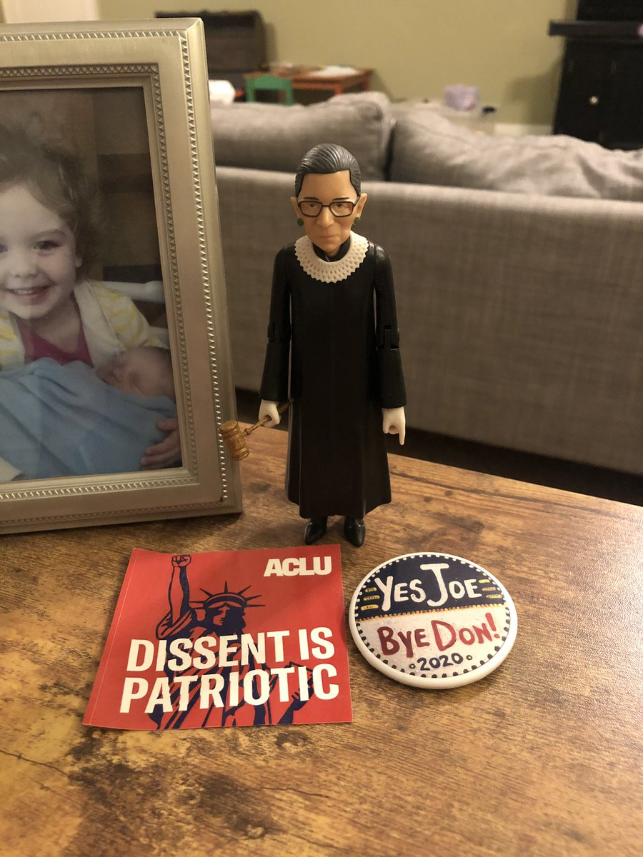 My heart is broken at the loss of my life long hero. I want to celebrate her amazing legacy. Instead I sit in terror of what is to come. Thank you, Justice Ginsberg for fighting so hard for so long for all of us. Enjoy your peace with Marty. We will continue your fight. #RBG
