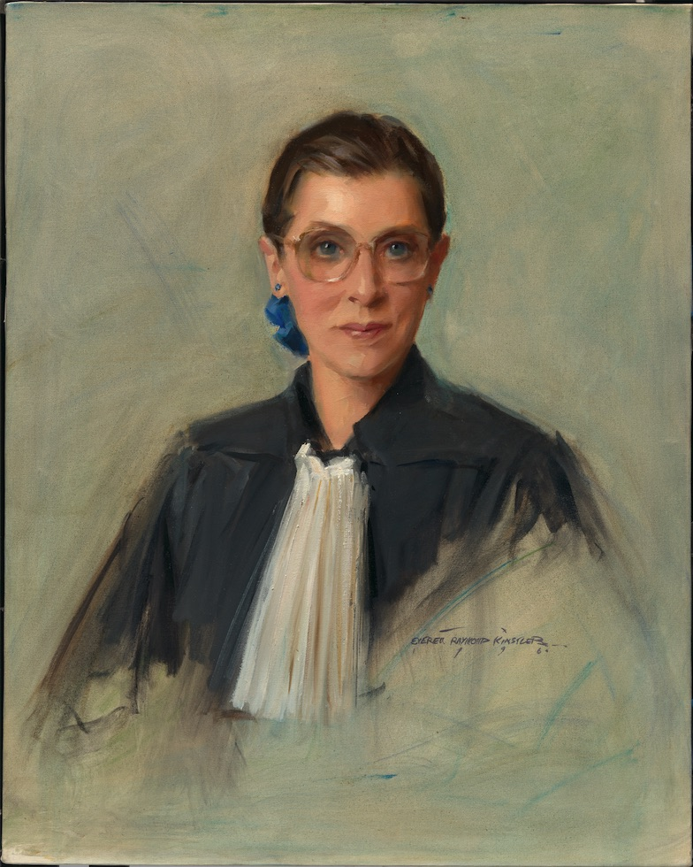 We remember Supreme Court Justice Ruth Bader Ginsburg, the second woman to serve on the Supreme Court. This 1996 portrait by Everett Raymond Kinstler is in our @smithsoniannpg's collection. https://t.co/ohWILvx2y4