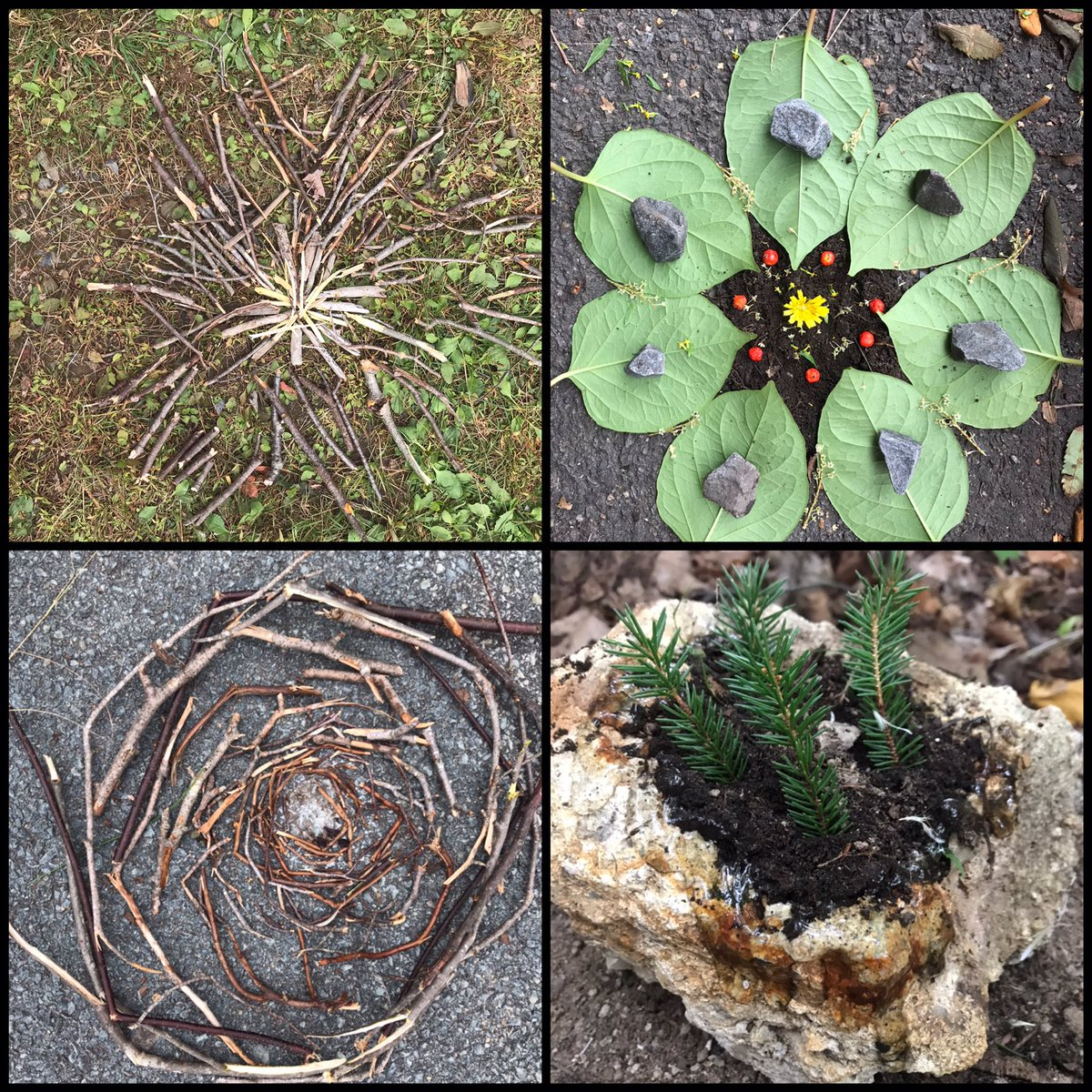 We were very inspired by Andy Goldsworthy's Environmental Art. A great day to get outside and create! https://t.co/2vEQWuYLjq