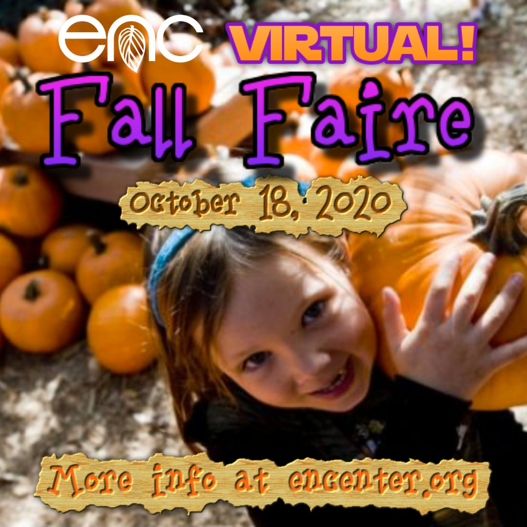"The ENC Fall Faire is going VIRTUAL! Support the ENC and enjoy a Fall Faire experience from home with a ""Fall Faire to Go"" bag. We'll also have a great Online Silent Auction, a Virtual Native Plant Sale and more. https://t.co/SHaqbGKzgA https://t.co/yfQw6WJQoR"