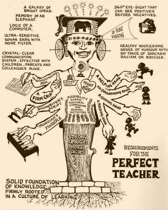 Requirements for the perfect teacher, it's not asking too much is it?