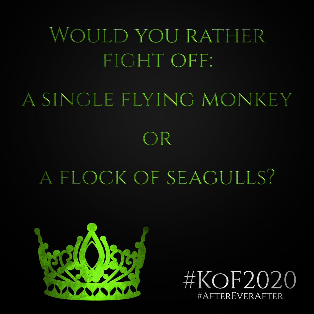 Would you rather fight off a single flying monkey or a flock of seagulls?  Jakon Heir of Fugitives https://t.co/hQdowO35Ci  #KoF2020 #AfterEverAfter #KingdomofFairytales #WizardofOz #fairytale #fairytales #yafantasy #newrelease #mustread #ilovebooks #yafantasybooks #amreading https://t.co/QSYxnEhQIS