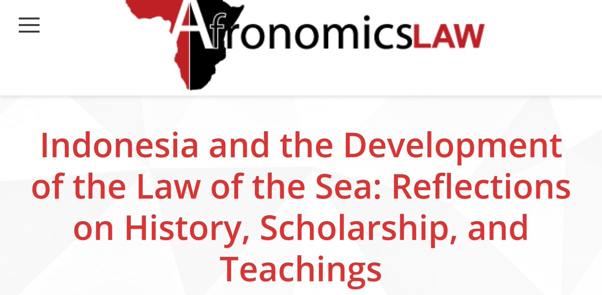 """Aristyo Darmawan (@aristioo) essay reflects on the """"contribution""""of   #Indonesia to the Development of the international law of the Sea & contemporary scholarship and teachings of international legal scholarship. https://t.co/M3oWwSndE7 https://t.co/1cTjq0NeDa"""