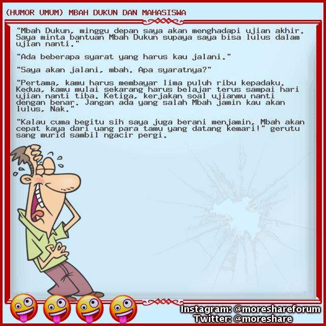 (HUMOR UMUM) MBAH DUKUN DAN MAHASISWA - UPDATE TIAP HARI!!! Jangan kelewatan!!! lumayan dari pada lumanyun buat ngilangin BETE!!! wkwkwkwkw Follow us - #humorumum #cerita #lucuumum #humor #humor #lucu #humorgokil #koleksihumor #kumpulanhumor #humor #indonesia #ceritahumor #humork https://t.co/L8LddTV3Vd