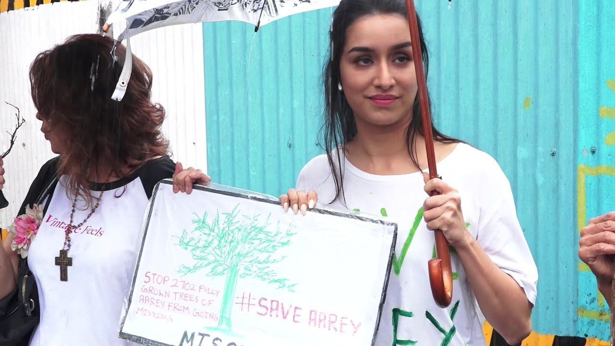#ShraddhaKapoor Feels #Delighted As #Aarey Metro Shed Site Is #Officially Being #Cleared And #Closed   https://t.co/4W1KEJKeCJ https://t.co/4CpKPi9W2I