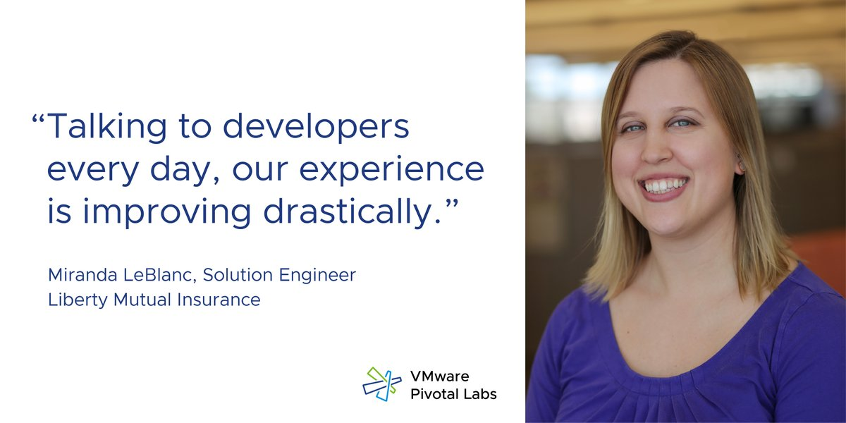 Discover how working with @PivotalLabs enhanced @LibertyMutual's developer experience. https://t.co/ROlSp0lYuw https://t.co/PVPSKu5Uj2
