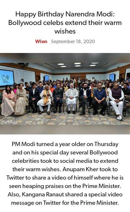 Happy Birthday Narendra Modi: Bollywood celebs extend their warm wishes