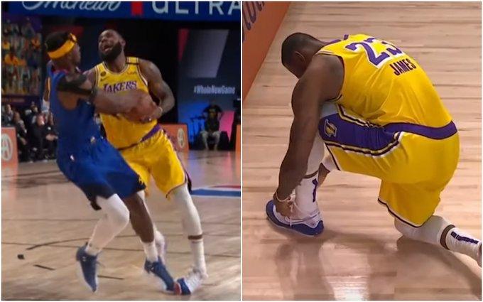 【影片】恐怖的生化人!詹姆斯突破踩對手90度崴腳,然後繫緊鞋帶跺跺腳,立馬下一回合暴扣!