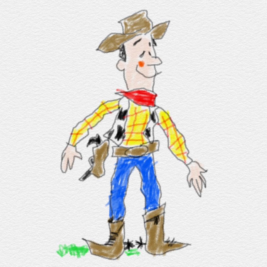 🤠 Woody Pride  インスタからの👨🎨お絵描きアーカイブ #トイストーリー からアンディが🖍描いた #ウッディ のイラストです❣️ヒーハー🐴🤠  #toystory #woody #disney #ディズニー #pixer #ピクサー #boopmaniadoodle https://t.co/wIMBASQ564