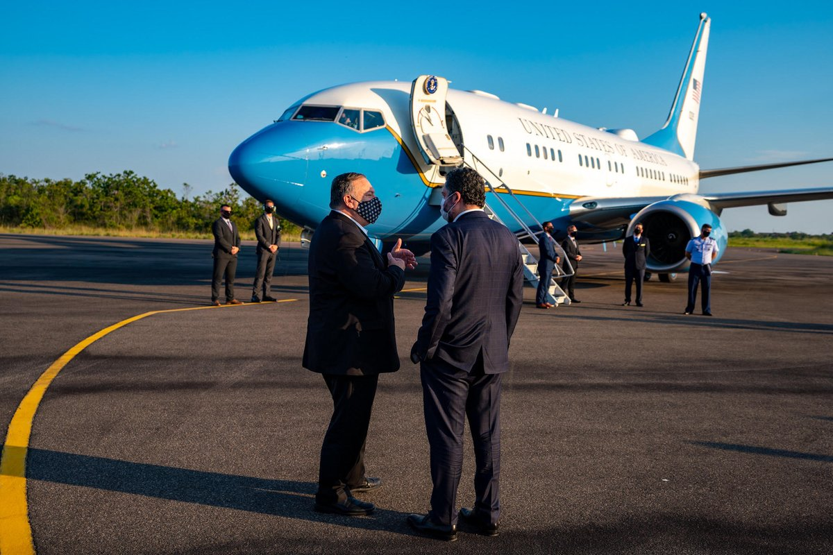 Wheels up from Boa Vista. The United States is a long-standing partner and friend to the people of Brazil. We are neighbors, and what happens to one affects us all. https://t.co/7hFTLQANgi