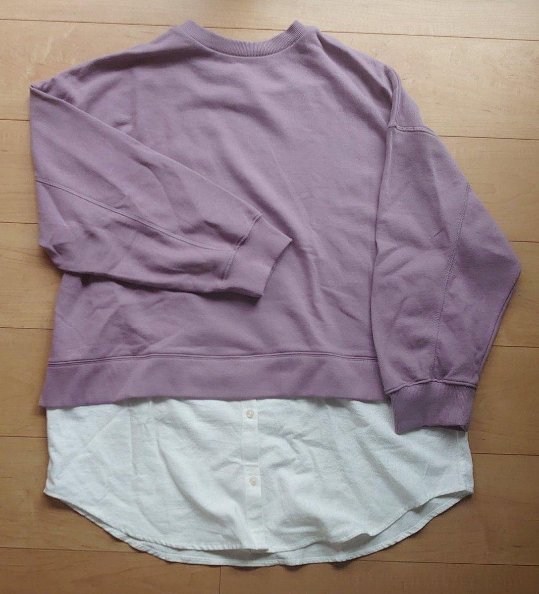 実は追いてらしてました🙈大好きなパープルだし、シャツの生地がいい感じ✨かわいい💕✅TERAスソフハクPO 淡紫 #terawearemu #しまむら #しまむら購入品 #しまパト #プチプラ