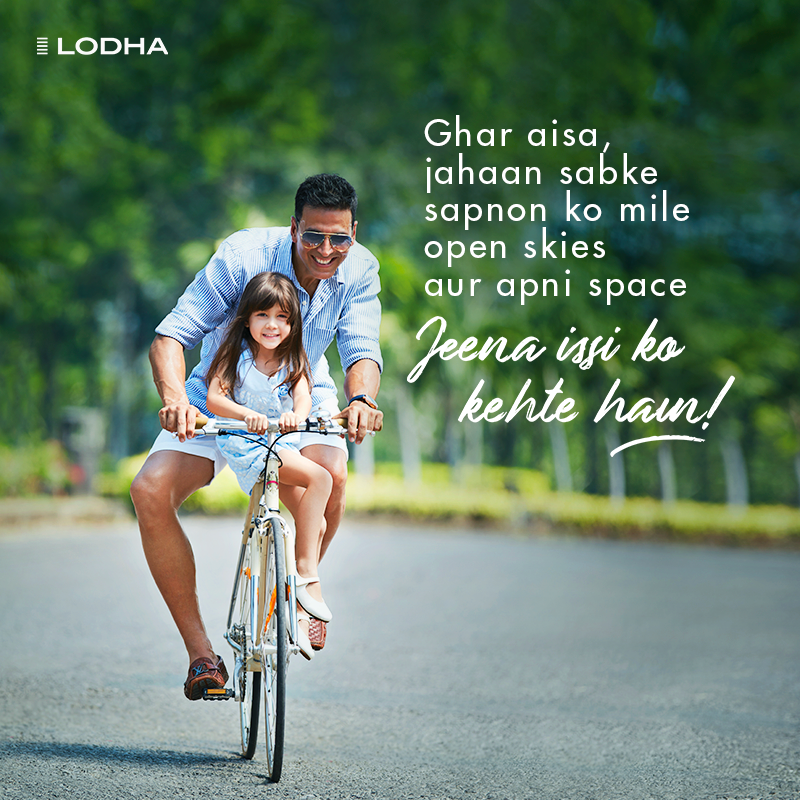 To live in a home with everything you'd ever wished for - Jeena issi ko kehte hain. #BuildingABetterLife #JeenaIssiKoKehteHain #LodhaGroup https://t.co/yQnZRePO2w