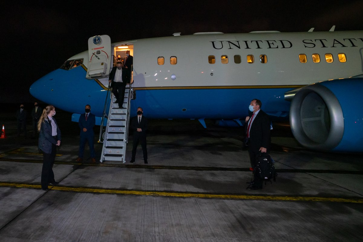 We've arrived in Bogota. Colombia is a key ally in the Western Hemisphere, and I look forward to building on our strong and enduring relationship. https://t.co/Gwt9oSlaE0